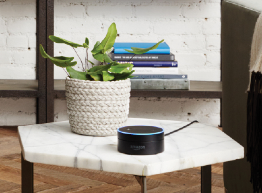 Amazon Dot voice recognition on Florida table