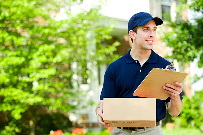 Florida deliveryman bringing package
