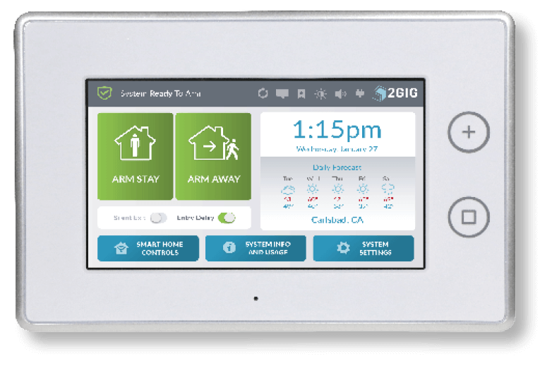 Seven inch alarm system touch screen for sale in Florida