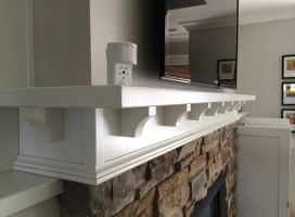 motion camera on Florida mantlepiece
